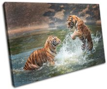 Tigers Playing Animals - 13-1831(00B)-SG32-LO